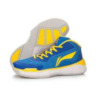 🚚 整月1250 李寧 Li-Ning 代言球星 Wade 籃球鞋 藍/黃 EUR:44(28CM)
