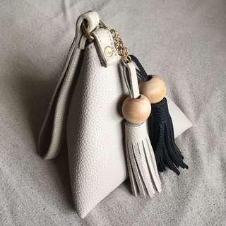 Pyramid Bag With Tassel