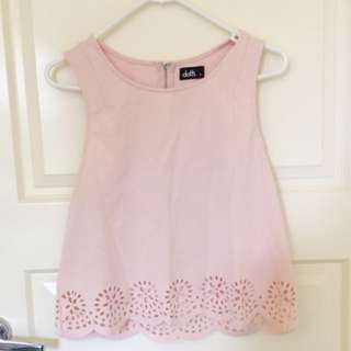 Dotti Baby Pink Sleeveless Top