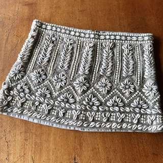 All Saints Embellished Mini Skirt