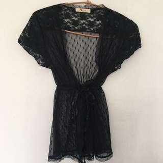 韓版軟蕾絲罩衫