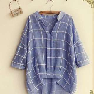 Fairyland Windowpane Check Blouse