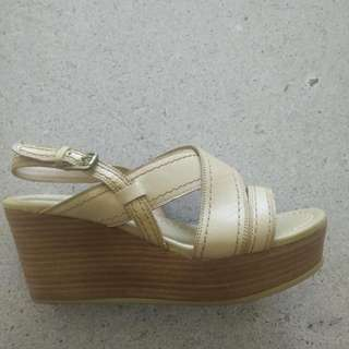 Wedge Sandal by Bianca Made In italy. Leather