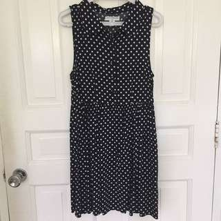 Cotton On Navy Polka Dot Dress