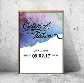 Customised Calligraphy Poster Or Card