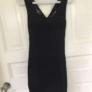 Forever 21 Black Bandage Dress