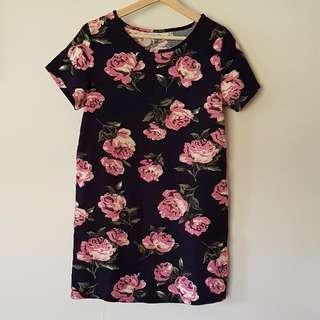 Pare Floral Size 10 Shift Dress
