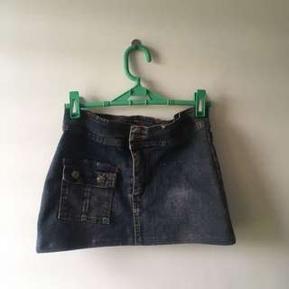Denim Mini-skirt