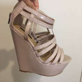 Forever 21 Blush Pink Wedges