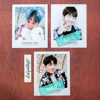 BTS Wings Tour Ticket Album Photocard Only - Maknae Line