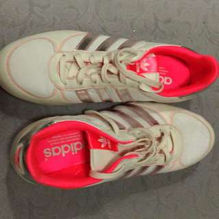 Adidas ORIGINAL Woman White-Silver Pink Inside No 40