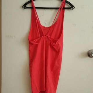 Strap Detail Pink Dress