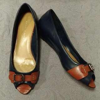 Flat Shoes Navy No.40