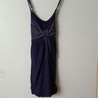 Navy Blue Ribbon Decal Top