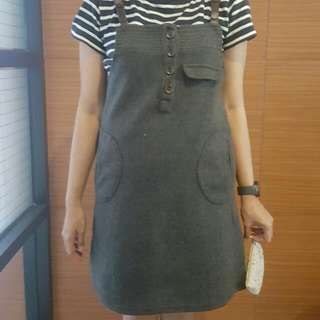 Grey Wool Overall
