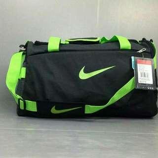 Tas Travel Nike Hitam List Hijau Stabilo