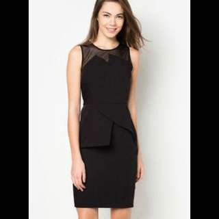 Zalora Panelled Midi Dress