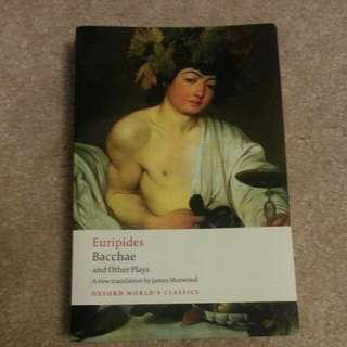 Euripides Bachae And Other Plays