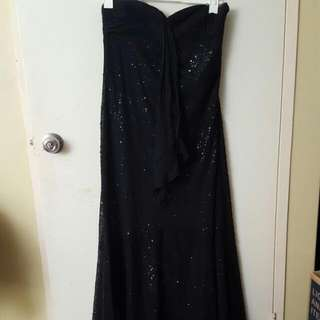 Beaded Black Gown
