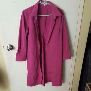 Magenta Ladies Coat