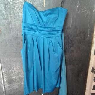 Royal Blue Tube Cocktail Dress