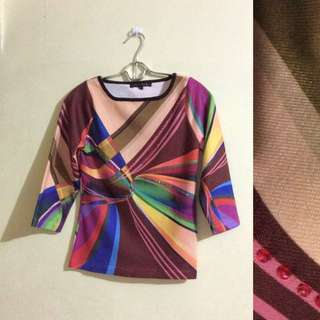 Colorful Knit Blouse