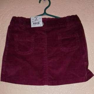 maroon kids skirt