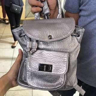 Mini Silver Backpack