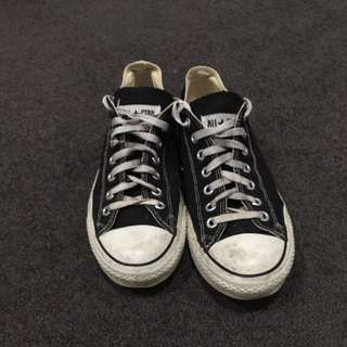 Black Converse Low Tops