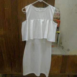 Sabrina Dress Putih