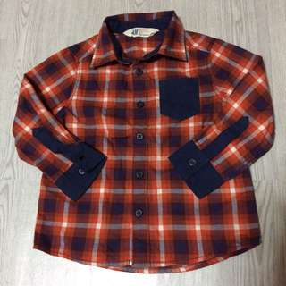 H&M Boys Plaid Longsleeves