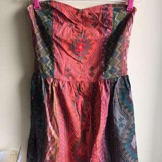 Strap-less Tribal Dress