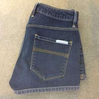 SASS AND BIDE Dark Denim Shorts Size 26 Au 8