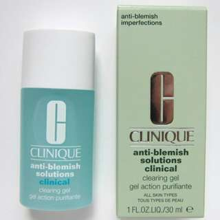 [IN]Clinique Anti-Blemish Solutions Clinical Clearing Gel (All Skin Types) 1oz, 30ml