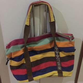 Colourful Striped Shoulder Bag