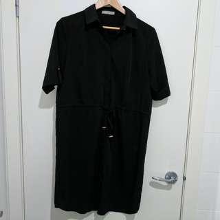 Forcast Black Shirtdress Size 12