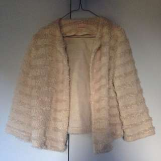 Cream Furry Jacket