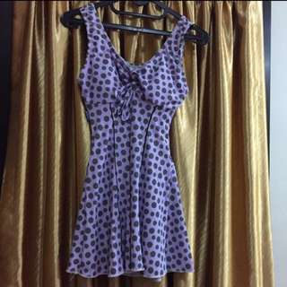 Swimsuit - Polka Purple