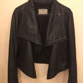 White Suede 80s Leather Jacket