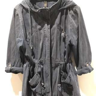 Navy Blue Denim Long Coat