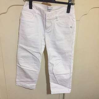 Arnold Palmer 雨傘牌白色7分褲 38號 Moussy Sly (Pants)