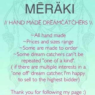 Hand Made Dream catchers