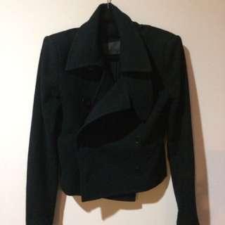 Scanlan And Theodore Black Jacket 8 Wool