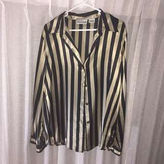 Striped Formal Top
