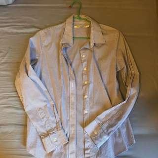 Lative直條紋襯衫(白&紫)