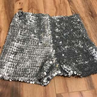 Sparkly Supre Short Shorts - High Waisted