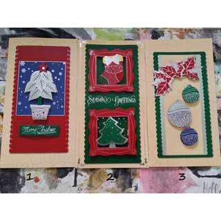 Christmas pop-up cards - 6 designs available