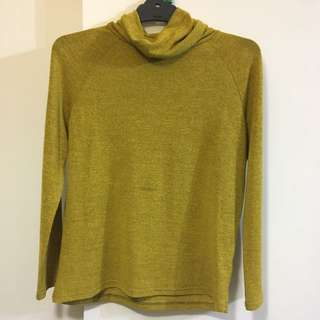 Small Mirrou Mustard Yellow Turtleneck