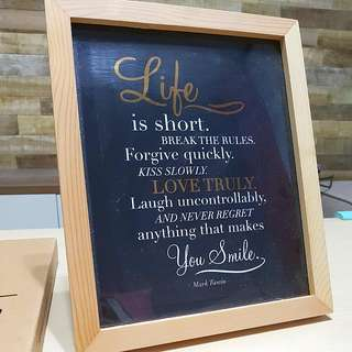 Decorative Art Print In A Photo Frame