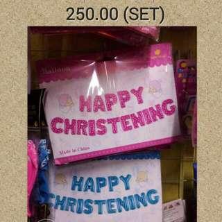 Letter Balloons (HAPPY CHRISTENING SET)